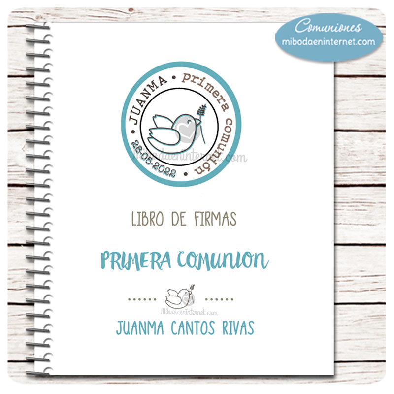 Libro de Primera Comunión Paloma