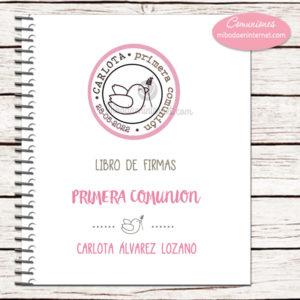 Libro de Firmas Primera Comunión Niña Paloma