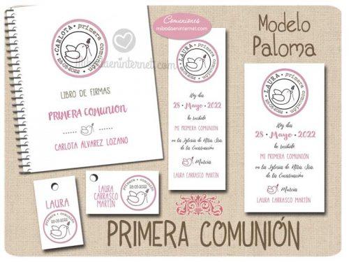 Conjunto Primera Comunión Niña Paloma