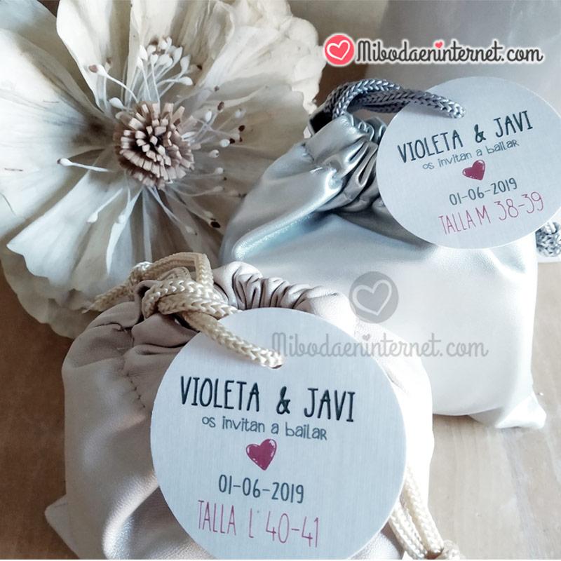 etiqueta tarjeta personalizada manoletinas bailarinas