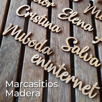 marcasitios madera para boda o eventos